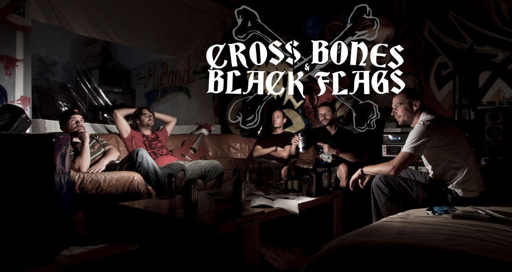 band Crossbones Blackflags
