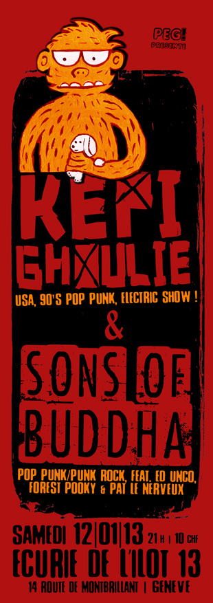 Flyer KepiGhoulie sons of buddha 12-01-13