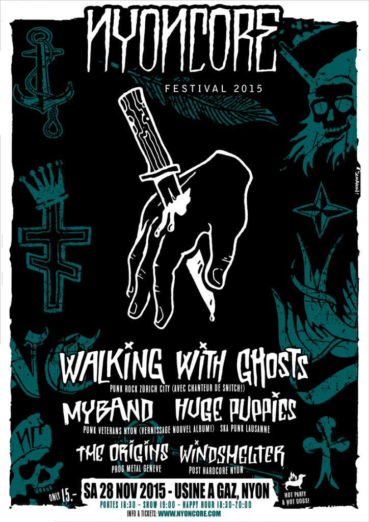 affiche-festival-nyoncore-2015-walking-with-ghosts-myband-huge-puppies-the-origins-windshelter-usine-a-gaz-nyon-suisse