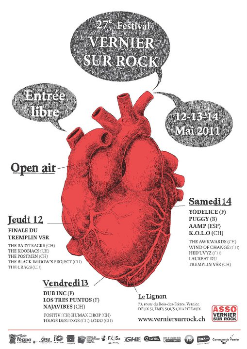 affiche vernier sur rock 2011